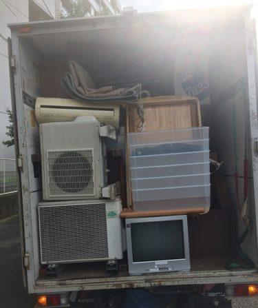 武蔵野市で不用品回収。お引越しで2t箱型トラック積み放題でした。