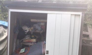 秩父市で物置を解体撤去、中の不用品も回収