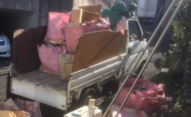 川口市のアパートで引越ゴミを回収