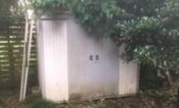 平塚市でスチール製物置を解体撤去
