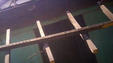東久留米市で物置と木製庇を分解して撤去